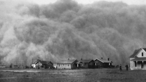一瞬にして街を飲み込んだダスト・ボウル(1934年、アイオワ州)