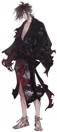 蓮八(『夜汐』イメージイラスト:ホノジロトヲジ)