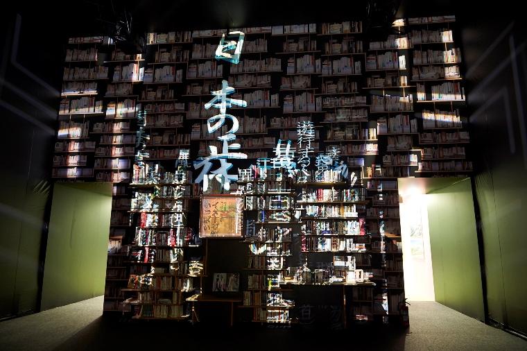 「ところざわサクラタウン」に建設中の角川武蔵野ミュージアムに置かれる本棚のモックアップを初披露