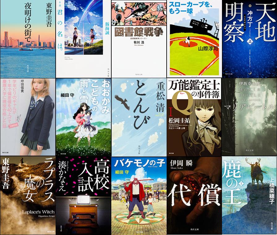 GWに読みたい! 角川文庫の「平成」年代別ベストセラー。35冊一挙紹介!