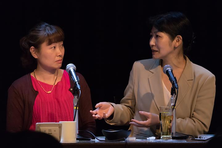 (左)細川貂々さん、(右)水島広子さん